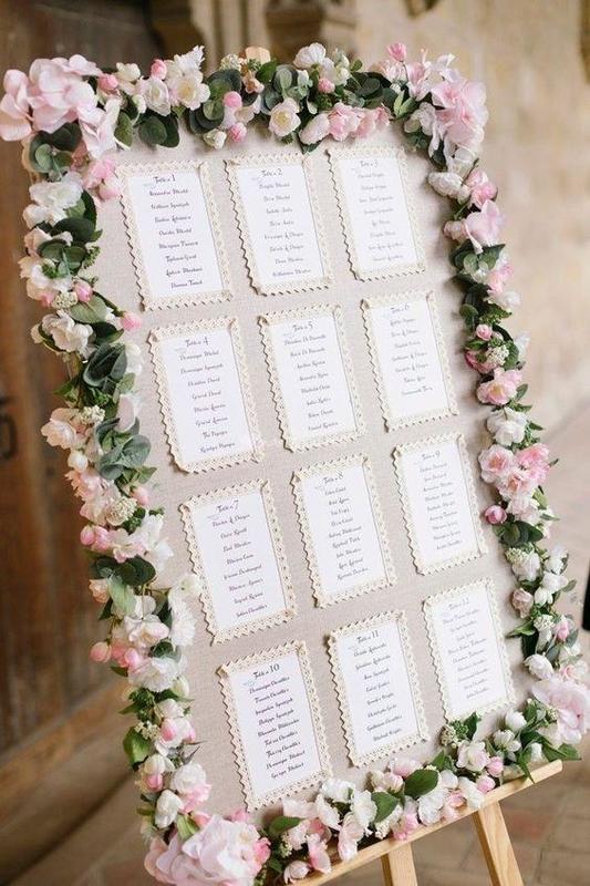Comment faire le plan de table de votre mariage vos - Exemple plan de table mariage ...