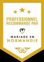 Animation - Badge professionnel recommandé par Mariage en Normandie